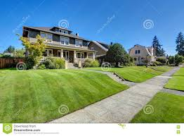 american craftsman nice curb appeal of american craftsman style house stock image