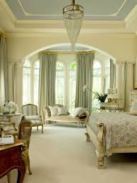interior bedroom large window treatments ideas with wooden bed