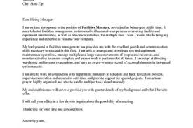 sample facility manager cover letter general cover letter sample