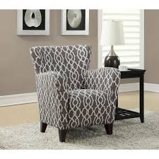 Grey And White Accent Chairs Acme Furniture Badgley White Tibet Wool Arm Chair 59453 The Home