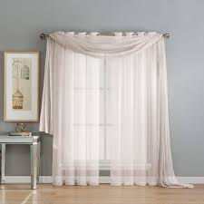 window scarf 216 inches window treatments compare prices at nextag