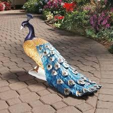 Regal Home And Garden Decor Outdoor Garden Decor Statues Photograph Classic Regal Peac
