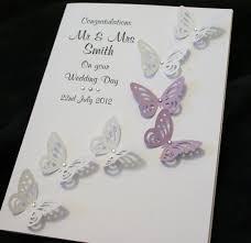 Congratulations Wedding Card Large Handmade Personalised Butterflies Congratulations Wedding