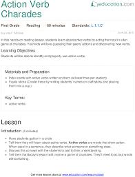 action verb charades lesson plan education com