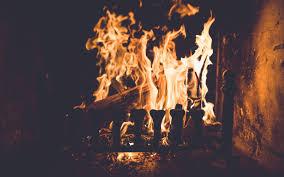 fire in fireplace hd wallpapers 4k