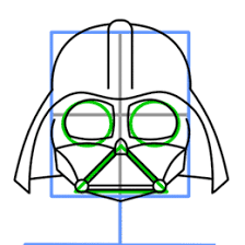 how to draw darth vader from star wars
