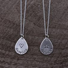 sterling silver personalized necklace images Personalized teardrop necklace sterling silver hand stamped name jpg