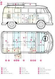 hippie van drawing dimensions split vw splitty t1 pinterest vw bus