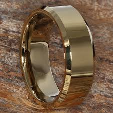 beveled ring beveled gold mens tungsten rings forever metals