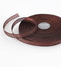 copper ribbon metallic weave cotton ribbon angela liguori