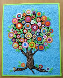 button tree a beautiful canvas project of vibrant colors