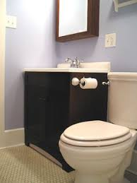 small bathroom and budget small bathroom that used to have carpet