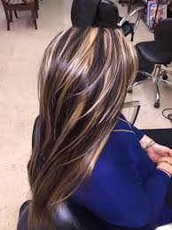 chunky highlights lowlights hair makeup pinterest chunky