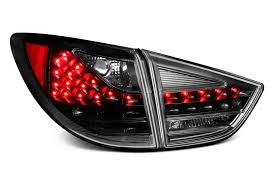 custom car tail lights led tail lights custom bolt on black chrome smoke carid com