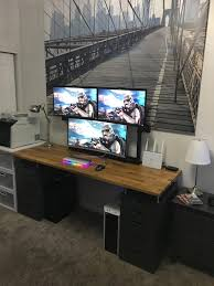 Best Desks For Gaming 69 Most Fabulous Ikea Narrow Desk Work Glass Top Computer L
