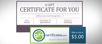 gift certificate template powerpoint free certificate template for