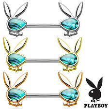 nipple rings pictures images Pair abalone inlaid playboy bunny nipple rings beauty mark body jpg