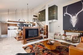 home interior design u2014 open living area with double height