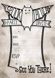 free halloween invitations printable templates