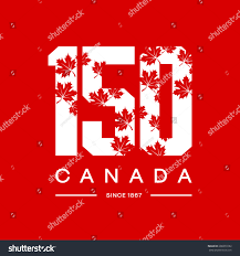 150 anniversary founding canada maple leaf stock vector 608370182