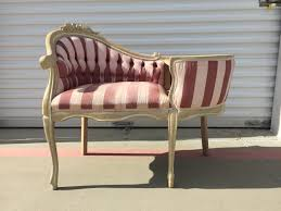 French Provincial Armchair Entry Chair Gossip Bench Armchair Victorian French Provincial