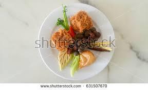 cha e cuisine royal cuisine kao chae cooked stock photo 631507670
