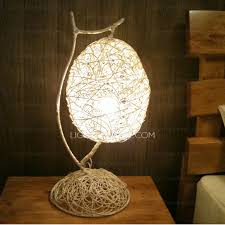 Unusual Light Fixtures - unusual bedside lamps rattan shade for bedside