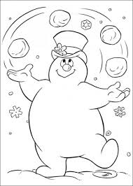 frosty the snowman coloring pages printable murderthestout