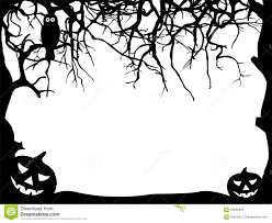 Halloween Witch Silhouette Templates by Halloween Greeting Card Frame Silhouette Black Shapes Stock