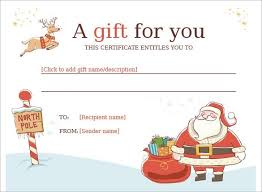 christmas gift certificate templates free download template business