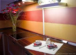 kitchen cabinets modern medium wood 013 s24952213 red yellow orange painted backsplash jpg