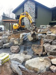 Rock Garden With Water Feature Snohomish Water Feature Rock Setting Sublime Garden Design