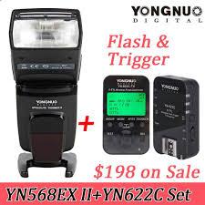tutorial flash yongnuo 568 2018 yongnuo yn 568ex ii ttl master hss flash speedlite with yn622c