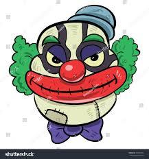scary halloween cartoons creepy clown cartoon clipartfest