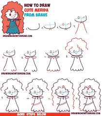 draw cute kawaii chibi merida disney pixar u0027s brave