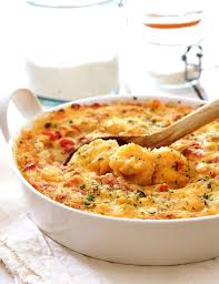 shrimp and artichoke casserole spicy shrimp and grits casserole with gouda cheese