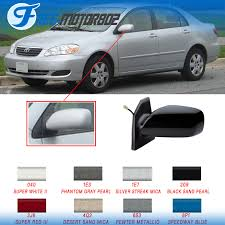 2005 toyota corolla side mirror painted fit 03 08 toyota corolla power driver side rear view