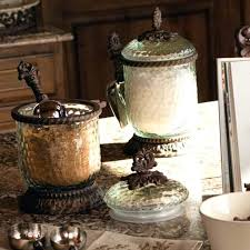 kitchen decorative canisters canisters for kitchen counter and glass decorative