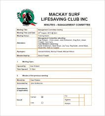 club meeting minutes templates u2013 9 free sample example format