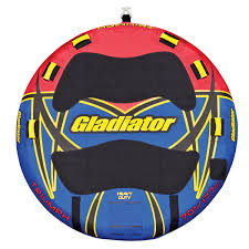 gladiator tube triumph 2 person towable tube with lightning valve