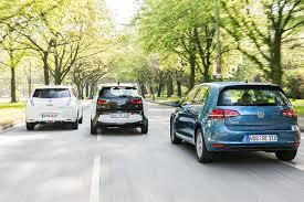 nissan leaf vs tesla 3 bmw i3 vs nissan leaf vs volkswagen e golf comparison