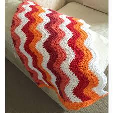 chevron blanket orange colour