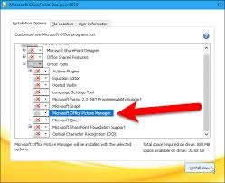 office sharepoint designer 2007 how to bring back the microsoft office picture manager in office
