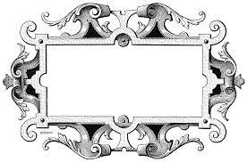 free illustration ornate vintage frame decoration free image
