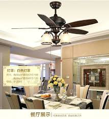 Chandelier Fans Ceiling Fan Vintage Style Ceiling Fans With Lights Wave 52 Inch