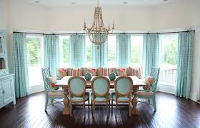 Dining Room Drapes Teal Blue Curtains Contemporary Dining Room Jonathan Adler