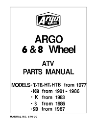 670 09 early argo models gear