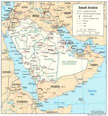 arab map saudi arabia maps perry castañeda map collection ut library