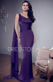 affordable purple wedding guest dress with sweep train