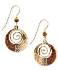 silver forest earrings silver forest earrings gold tone hammered loop drop earrings